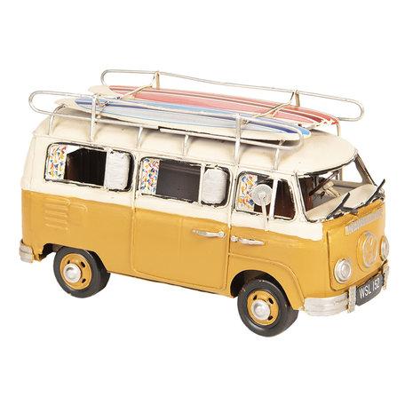 VW bus model licentie 20*10*11 cm Geel | 6Y3435 | Clayre & Eef