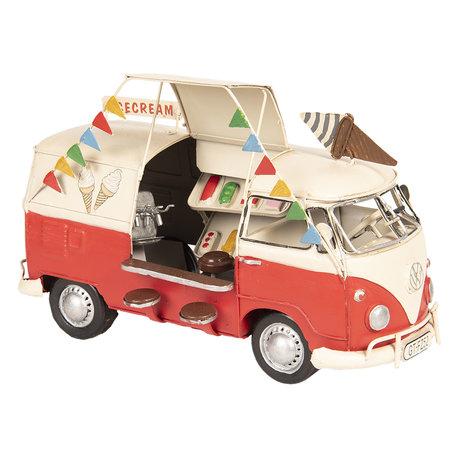 VW bus model licentie 26*14*17 cm Rood | 6Y3436 | Clayre & Eef