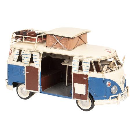 VW bus model licentie 27*12*15 cm Blauw | 6Y3438 | Clayre & Eef