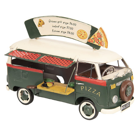 VW bus model licentie 25*14*18 cm Groen   6Y3439   Clayre & Eef