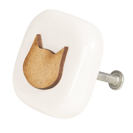 Deurknop 5*5*3 cm Bruin | 64234 | Clayre & Eef