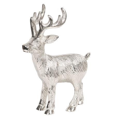 Decoratie rendier 5*14*18 cm Zilverkleurig | 6AL0017 | Clayre & Eef