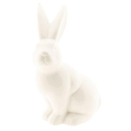Decoratie konijn 6*5*9 cm Wit | 6CE1027 | Clayre & Eef