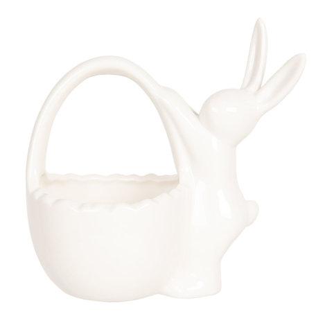 Decoratie konijn 13*8*13 cm Wit | 6CE1029 | Clayre & Eef