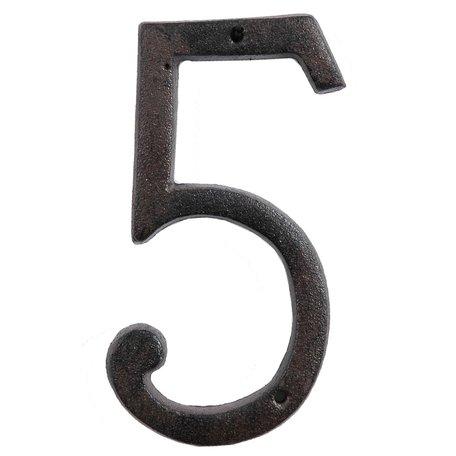 Nummer (5) 15 cm Bruin | 6Y0264-5 | Clayre & Eef