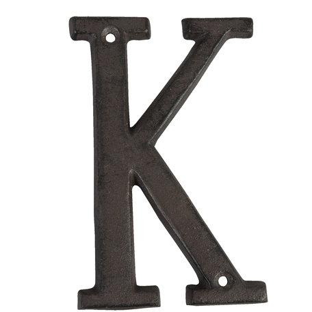 Letter K 13 cm Bruin | 6Y0840-K | Clayre & Eef