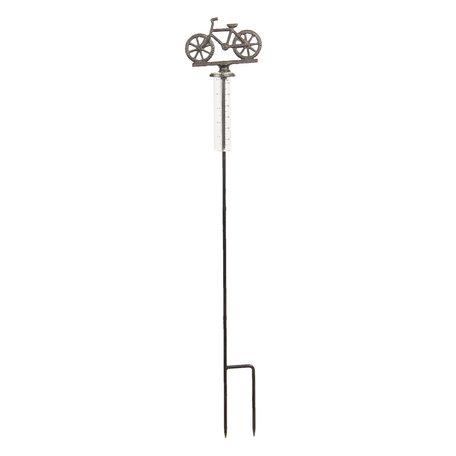 Regenmeter fiets 14*9*84 cm Bruin | 6Y3305 | Clayre & Eef
