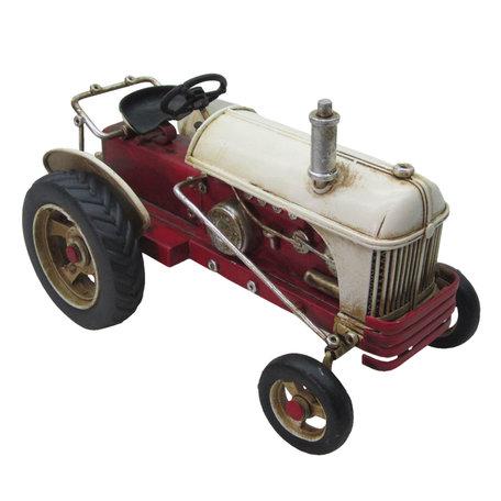 Tractor 16*10*11 cm Rood   JJTR0001   Clayre & Eef