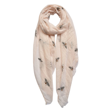 Sjaal 70*180 cm Creme | JZSC0427 | Clayre & Eef