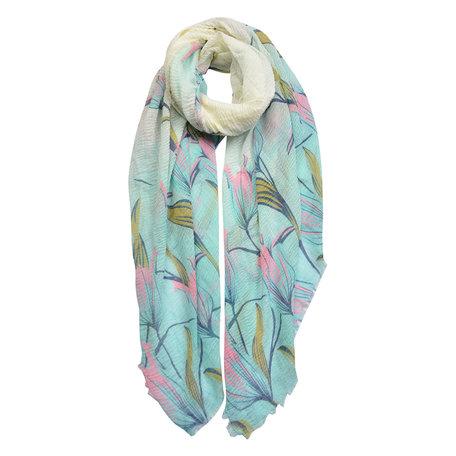 Sjaal 90*180 cm Blauw | JZSC0437BL | Clayre & Eef