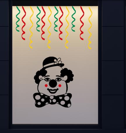 13 delige stickerset herbruikbaar serpentine & clown | Carnaval | Rosami