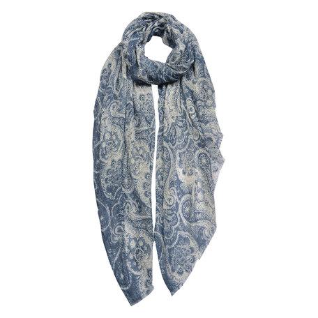 Sjaal 100*180 cm Blauw | JZSC0428BL | Clayre & Eef