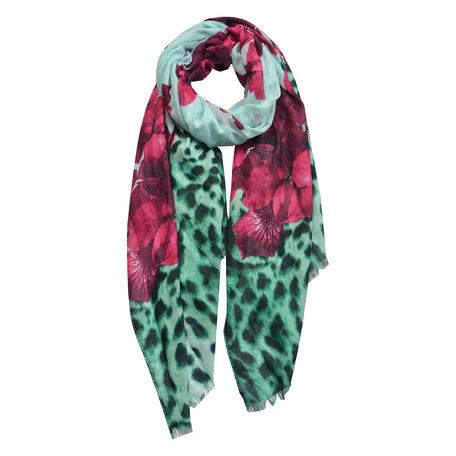 Sjaal 70*180 cm Groen | JZSC0430GR | Clayre & Eef