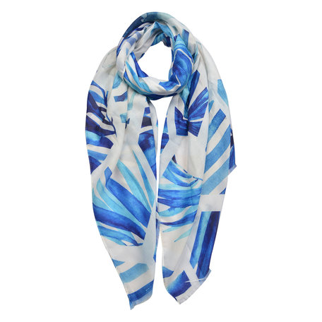 Sjaal 70*180 cm Blauw | JZSC0432 | Clayre & Eef