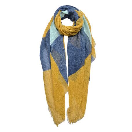 Sjaal 90*180 cm Blauw | JZSC0438 | Clayre & Eef