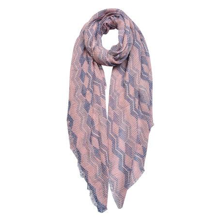 Sjaal 90*180 cm Roze | JZSC0444 | Clayre & Eef