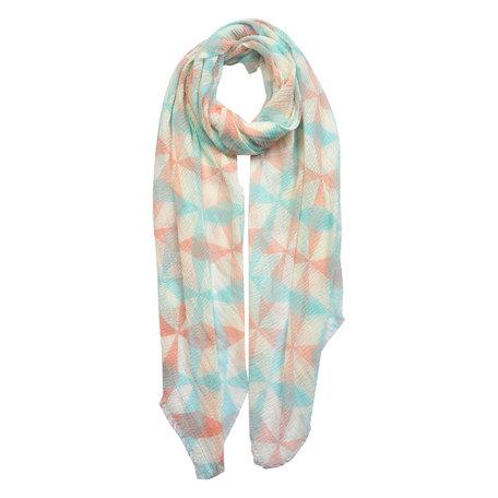 Sjaal 90*180 cm Blauw | JZSC0446 | Clayre & Eef
