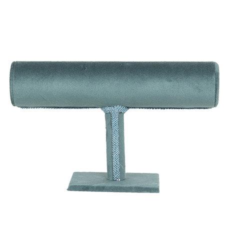 Sieraden display 23*7*14 cm Blauw | MLDS0052PE | Clayre & Eef