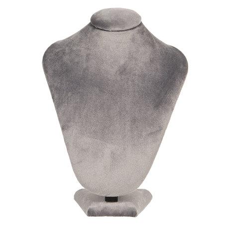 Sieraden display 21*14*30 cm Grijs | MLDS0054G | Clayre & Eef