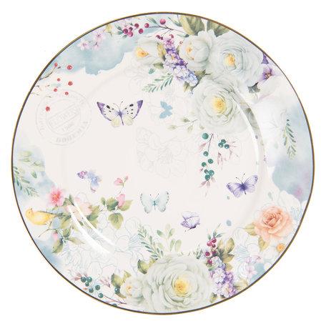 Klein bord ø 19*2 cm Meerkleurig | BUTDP | Clayre & Eef