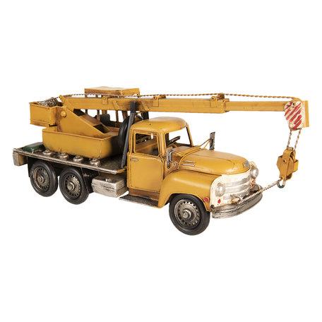 Model kraanwagen 41*12*16 cm Geel   6Y3392   Clayre & Eef