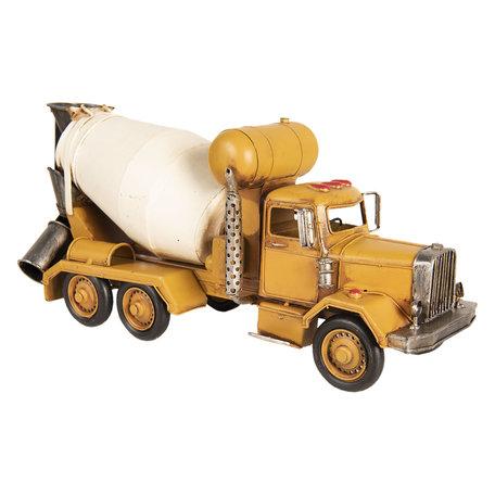 Model betonmixer 37*12*17 cm Geel   6Y3393   Clayre & Eef