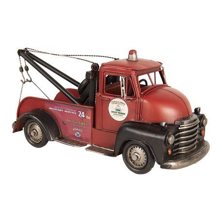 Model sleepwagen 36*14*16 cm Rood   6Y3394   Clayre & Eef