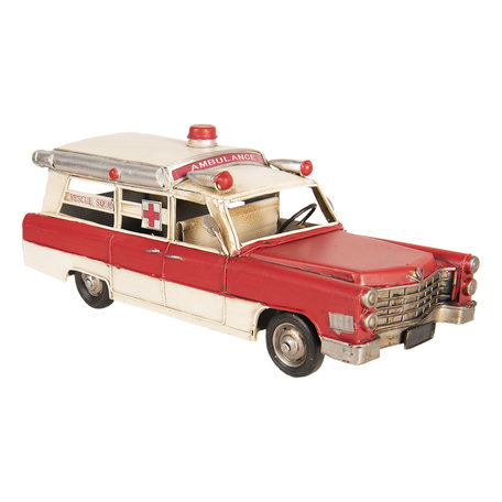 Model ambulance 33*14*13 cm Rood | 6Y3395 | Clayre & Eef