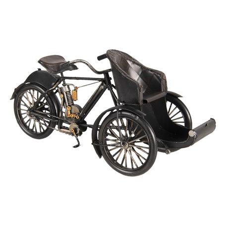 Model driewieler 28*11*13 cm Zwart | 6Y3399 | Clayre & Eef