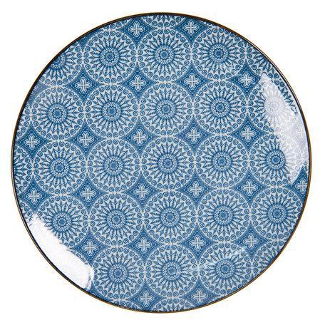 Klein bord ø 21 cm Blauw | 6CEDP0044 | Clayre & Eef