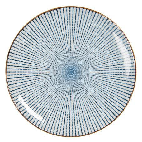 Klein bord ø 21 cm Blauw   6CEDP0045   Clayre & Eef