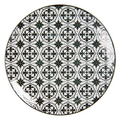 Klein bord ø 21 cm Meerkleurig | 6CEDP0047 | Clayre & Eef