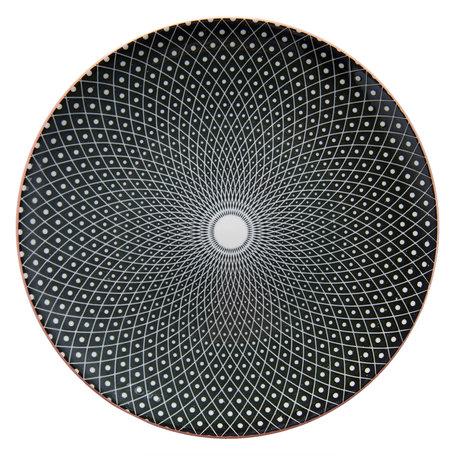 Klein bord ø 21 cm Zwart | 6CEDP0050 | Clayre & Eef