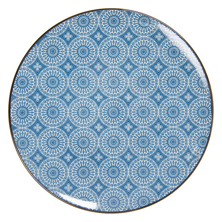 Groot bord ø 26 cm Blauw   6CEFP0044   Clayre & Eef
