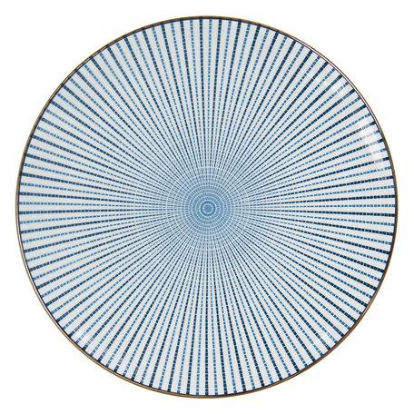 Groot bord ø 26 cm Blauw | 6CEFP0045 | Clayre & Eef