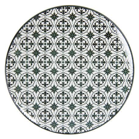 Groot bord ø 26 cm Meerkleurig | 6CEFP0047 | Clayre & Eef