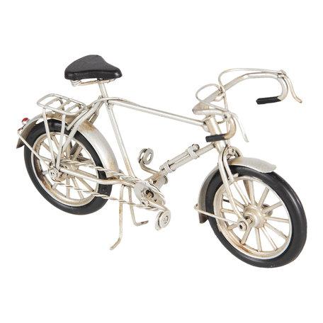 Model fiets 16*5*9 cm Grijs   6Y3385   Clayre & Eef