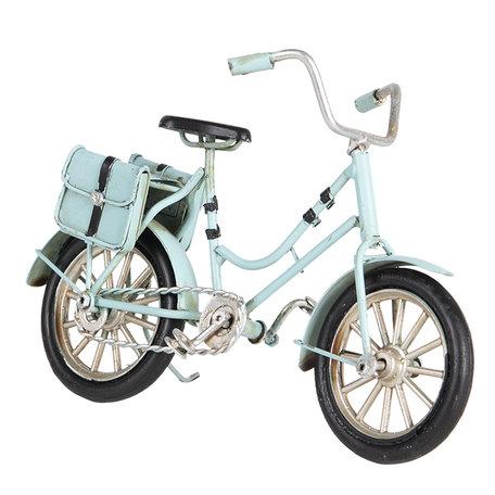 Model fiets 16*5*10 cm Blauw   6Y3386   Clayre & Eef