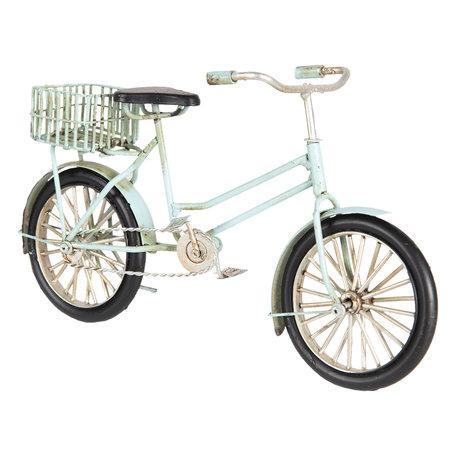 Model fiets 23*7*13 cm Blauw   6Y3387   Clayre & Eef