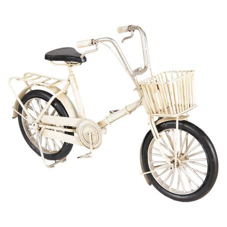 Model fiets 23*6*15 cm Wit   6Y3388   Clayre & Eef