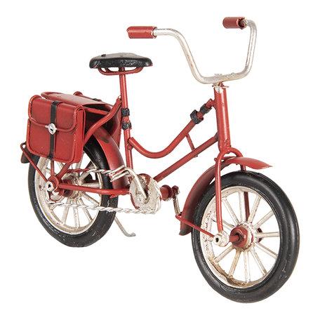 Model fiets 16*5*10 cm Rood | 6Y3389 | Clayre & Eef