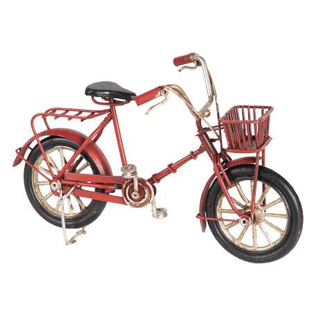 Model fiets 16*6*10 cm Rood   6Y3390   Clayre & Eef