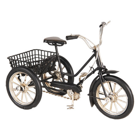 Model driewieler 16*7*10 cm Zwart   6Y3398   Clayre & Eef