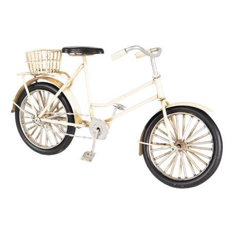 Model fiets 23*7*12 cm Wit   6Y3703   Clayre & Eef
