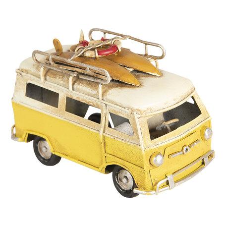 Model bus 11*5*7 cm Geel   6Y3707   Clayre & Eef