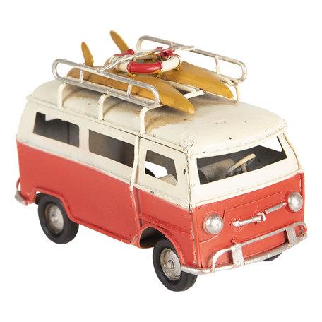 Model bus 11*5*7 cm Rood   6Y3708   Clayre & Eef