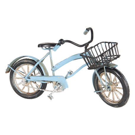 Model fiets 16*5*9 cm Blauw   6Y3709   Clayre & Eef