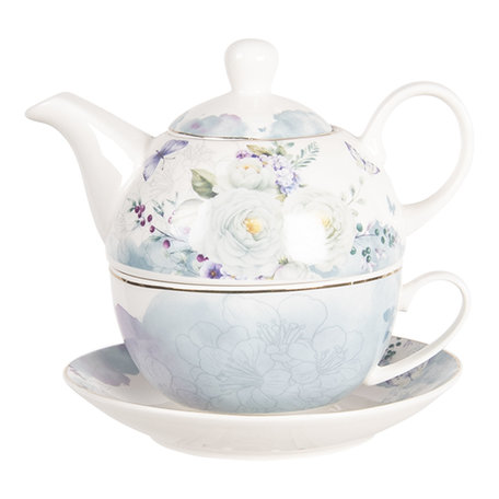 Tea for one set 16*15*14 cm / 0.46L Multi | BUTTEFO | Clayre & Eef
