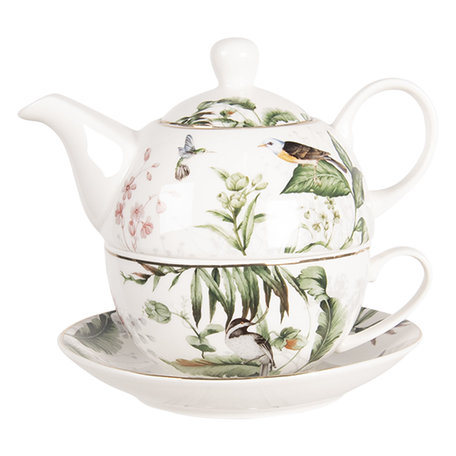 Tea for one set 16*15*14 cm / 0.46L Multi | TRBTEFO | Clayre & Eef