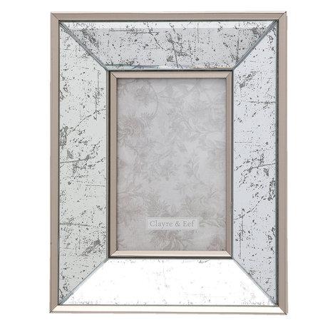Fotolijst 19*2*24 / 10*15 cm Zilverkleurig | 2F0620S | Clayre & Eef